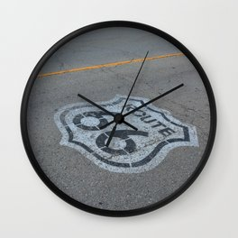 The mythical Route 66 sign in Texas, USA. Wall Clock