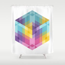 Fig. 024 Hexagon shapes Shower Curtain