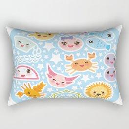 Funny Kawaii zodiac sign Rectangular Pillow