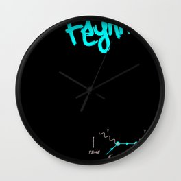 Study Hard Wall Clock