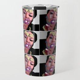 Melanin Warrior (tiles) Travel Mug