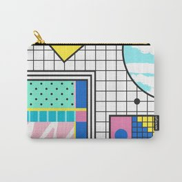 Memphis Retro Revival Collage Carry-All Pouch