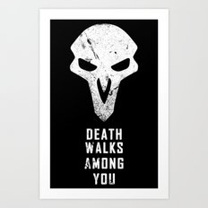 Death Walks Art Print