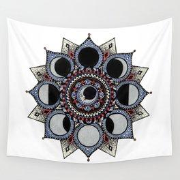 Moon Phase Mandala Wall Tapestry