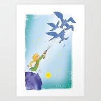 le petit prince Art Prints featuring Le Petit Prince by karicola