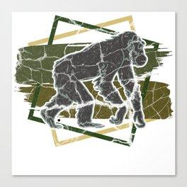 Oran Utan Monkey Ape Gift Animal Nature Canvas Print