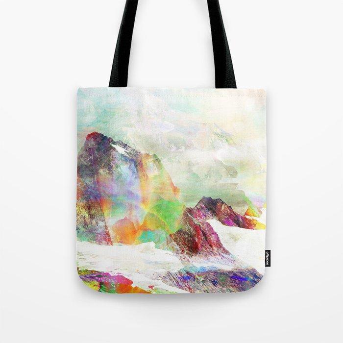 Glitch Mountain Tote Bag