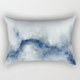 Indigo Abstract Painting | No.3 Rectangular Pillow