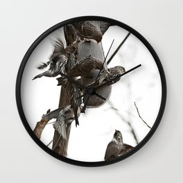 Busy Dining Place Wall Clock