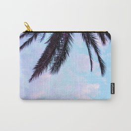 Palm Leaves Pastel Clouds #1 #decor #art #society6 Carry-All Pouch