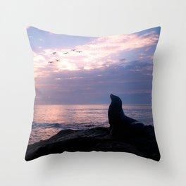 La Jolla Sea Lion Throw Pillow