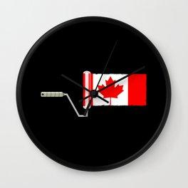 Paint Roller Canada Wall Clock