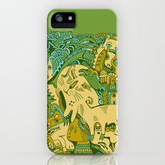 Green Town iPhone (5, 5s) Slim Case
