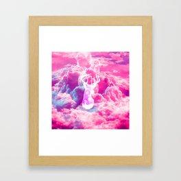 Deer In The Clouds Framed Art Print