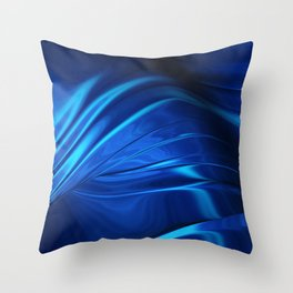 Dark Blue Abstraction Throw Pillow