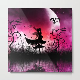 Little fairy dancing in the night Metal Print