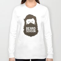 david Long Sleeve T-shirts featuring Beard Season by Chase Kunz