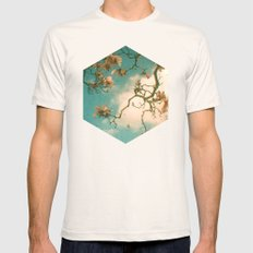 Magnolia Falls LARGE Natural Mens Fitted Tee