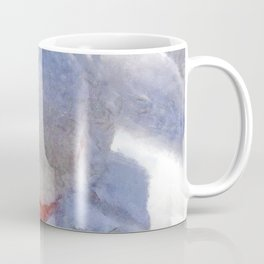 White Preening Duck - Feather and Down Close Up Coffee Mug