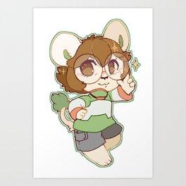 Pidge the Green Lion Art Print