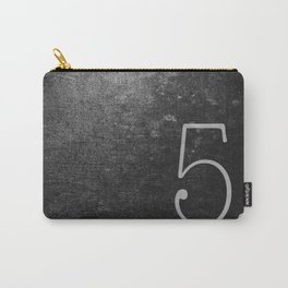 NUMBER 5 BLACK Carry-All Pouch