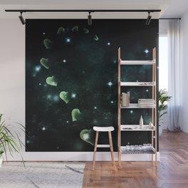 Cosmos Hart of Harts Half Green & White Wall Mural