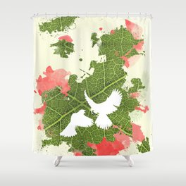 Leaf Bird Shower Curtain