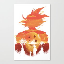 Dragonball sunset Canvas Print