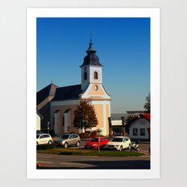 The village church of Kirchschlag | architectural photography Art Print
