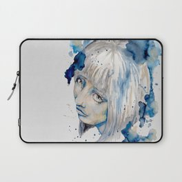 Nieves watercolor portrait by carographic Laptop Sleeve