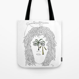 A Taxi and Take off Drawing Tote Bag