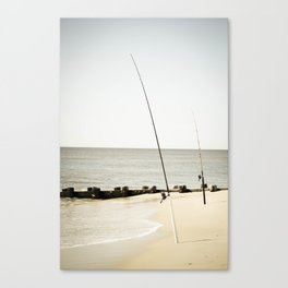 Fishing at the Beach Canvas Print