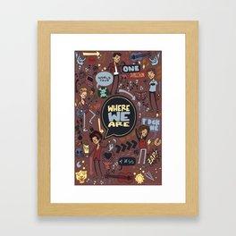 WWA Poster Framed Art Print