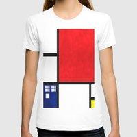 mondrian T-shirts featuring Mondrian TARDIS by Sama B