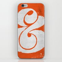 ampersand iPhone & iPod Skins featuring Ampersand by Andrei Robu