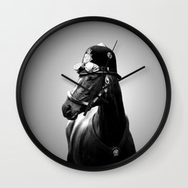 Horse police Wall Clock