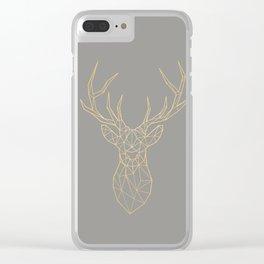 Geometric Deer Clear iPhone Case
