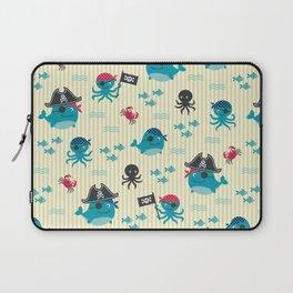 Underwater pirates vintage pattern Laptop Sleeve