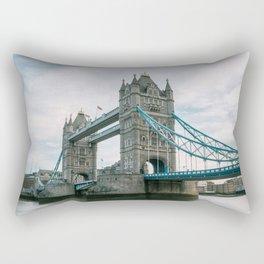 Historical Landmark Tower Bridge on River Thames Rectangular Pillow