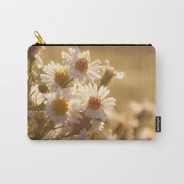 White Aster Flower Carry-All Pouch