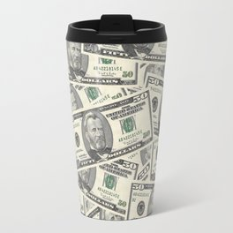 Collage of Currency Graphic Travel Mug
