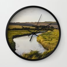 Cuckmere river Wall Clock