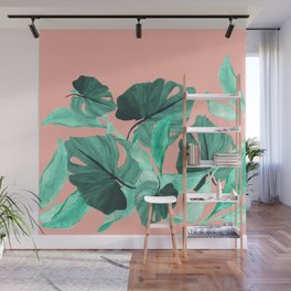 Jungle Foliage (Peach) Wall Mural