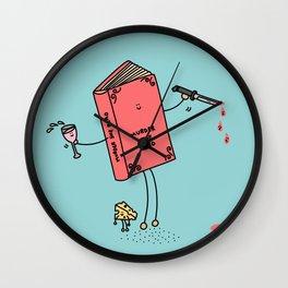 Murder She Read Wall Clock