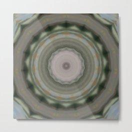 The Green Unsharp Mandala 9 (Camouflage Target) Metal Print