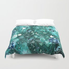 AQUA GEMS & CRYSTALS  SEPTEMBER BIRTHSTONE Duvet Cover