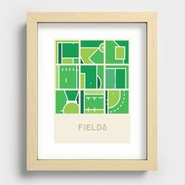 Fields (Sports Surfaces Series, No. 2) Recessed Framed Print