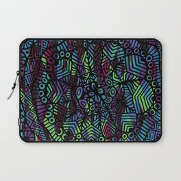 Purple and Green Doodle 14 Laptop Sleeve