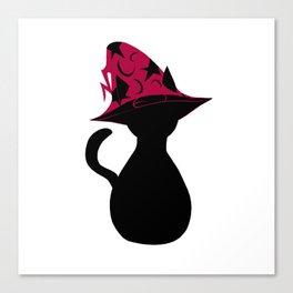 Spooky wizard cat! Canvas Print