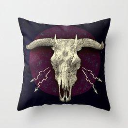 Beelzebub - devilish hybrid creature skull Throw Pillow